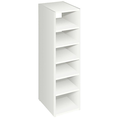 Selectives 41.5-inch Stackable 7-Shelf Closet Organizer in White