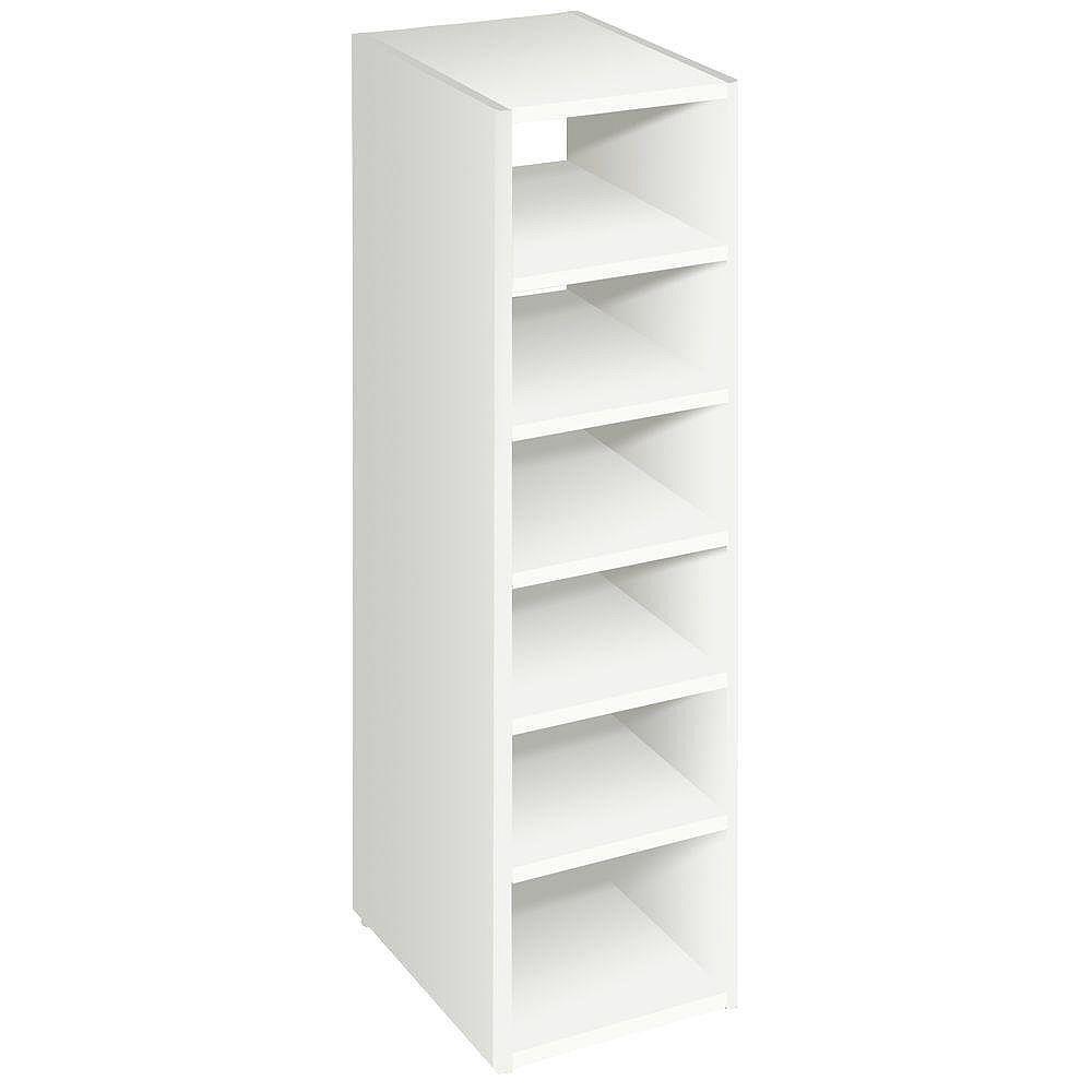 ClosetMaid Organiseur empilable blanc à 7 étagères, 41 1/2 po, blanc