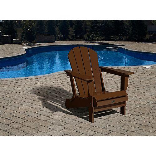Leisure Line Patio Muskoka Chair in Brown