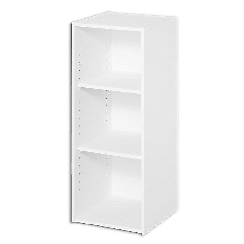 12 inch W x 31 inch H Decorative White 3-Cube Organizer