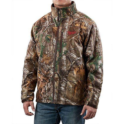 Milwaukee Tool M12  Realtree Ap  Camo Premium Multi-Zone Heated Jacket With Battery- Large
