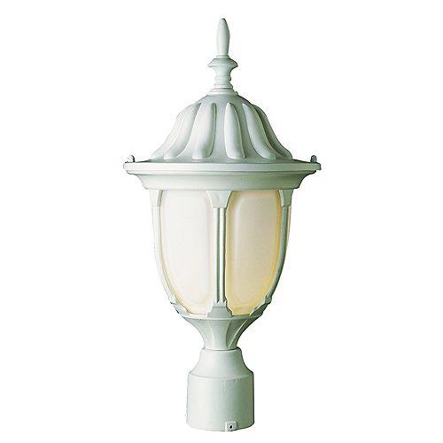 Lampe de lampadaire, verre opale,  blanc