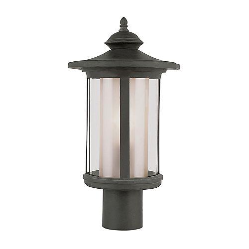 Lampe de lampadaire, verre transparent de couleur thé - grand