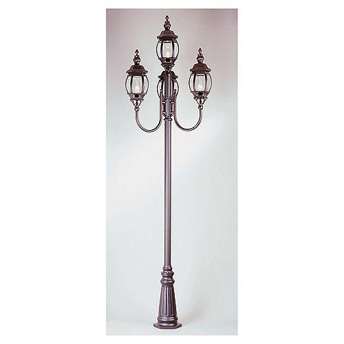 Lampadaire Montréal à 4 lanternes, noir