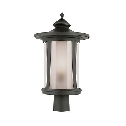Lampe de lampadaire, verre transparent de couleur thé - moyen