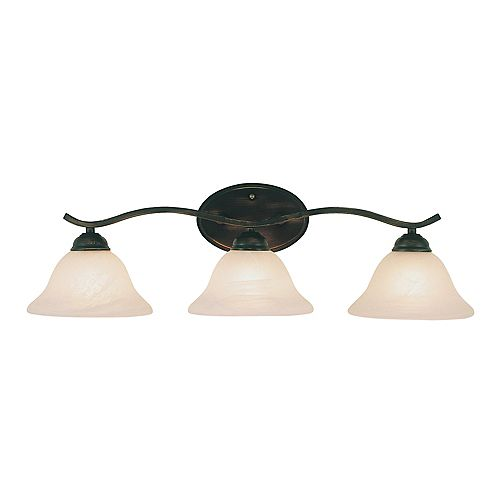 Bel Air Lighting 3-Light Arch Vanity Light Fixture in Bronze