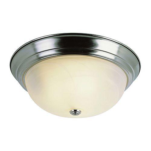 Bel Air Lighting Luminaire affleurant, nickel et marbré, 38,10 cm (15 po)