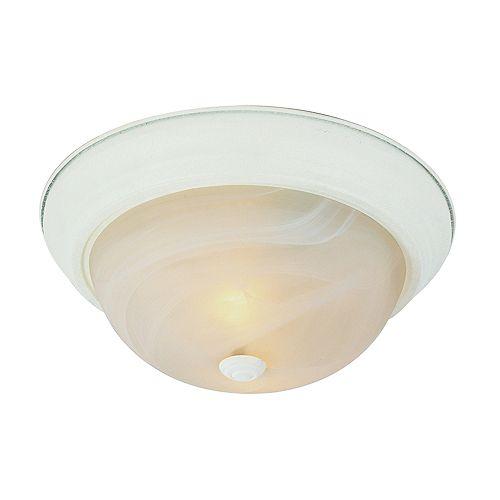 Luminaire affleurant, blanc et marbré, 27,94 cm (11 po)