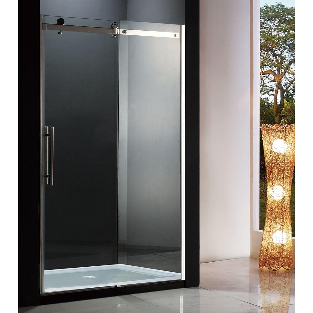 Jade Bath Riga 48 inch 8mm Clear Glass Sliding Shower Door