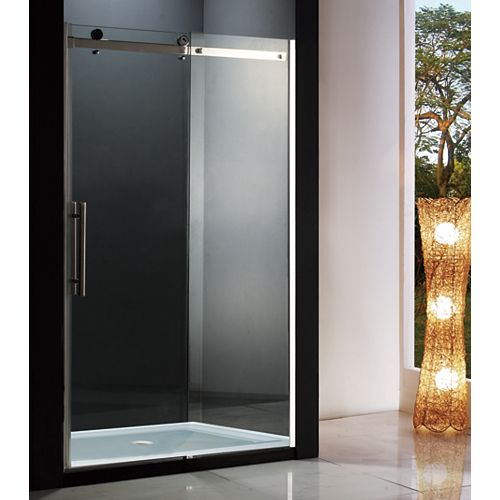 Riga 48 inch 8mm Clear Glass Sliding Shower Door