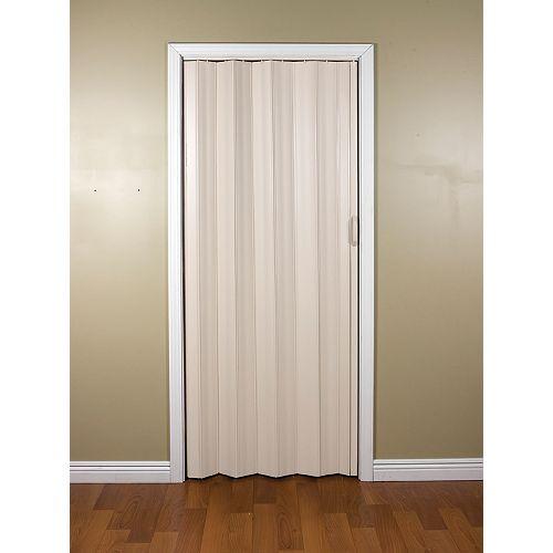 24-inch to 36-inch Sienna Cottage White Accordion Bifold Door