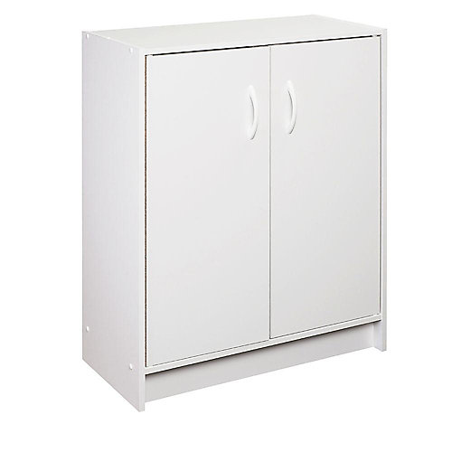 30 inch H x 24 inch W x 12 inch D White Raised Panel Wall Storage Cabinet