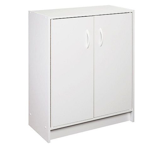 ClosetMaid 30 inch H x 24 inch W x 12 inch D White Raised Panel Wall Storage Cabinet
