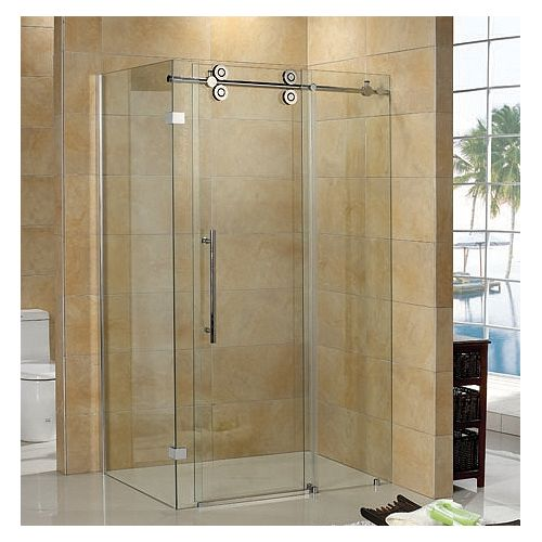 Regal II 10mm Clear Glass 36 inch x 48 inch Sliding Shower Door with Return Panel