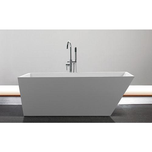 Jade Bath Piper 67 inch Acrylic Rectangular Freestanding Soaker Bathtub in White