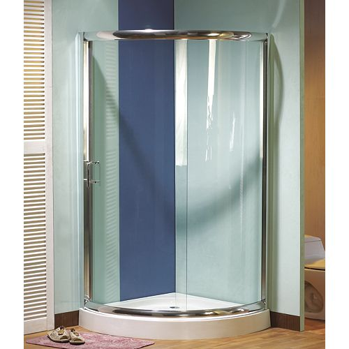 Siarra 36 Inch x 36 Inch Reversible Sliding Door with Base