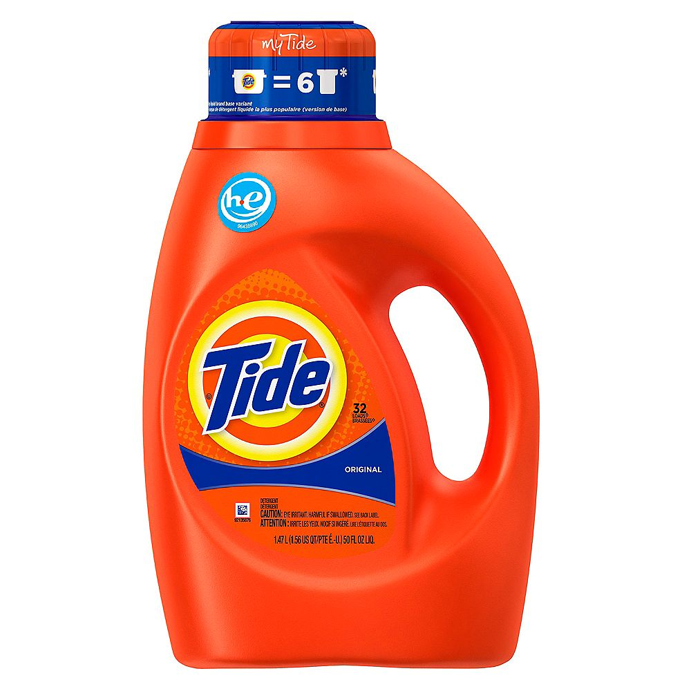 Tide Liquid 2x High Efficienct Original 6/50z 32 Load