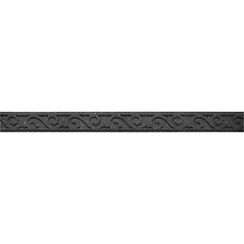 Multy Home Bordure de jardin Flexi Scroll de 48 po de long x 3,5 po de haut, gris
