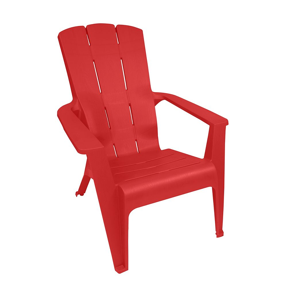 Gracious Living Contour Patio Muskoka Chair in Red