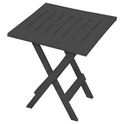 Folding Patio Side Table in Grey