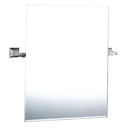 Miroir Exhibit en nickel brossé
