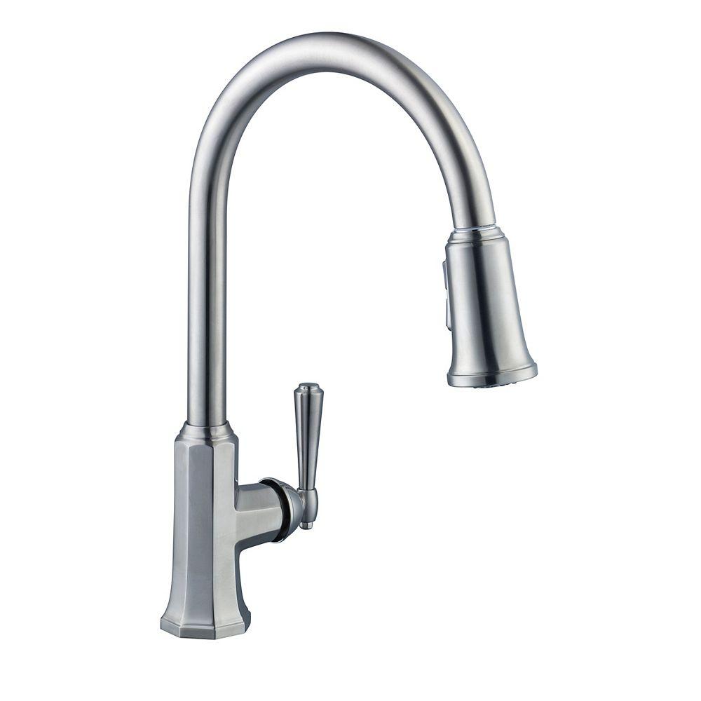 Pegasus Sentio Pull-Down Kitchen Faucet in Brushed Nickel