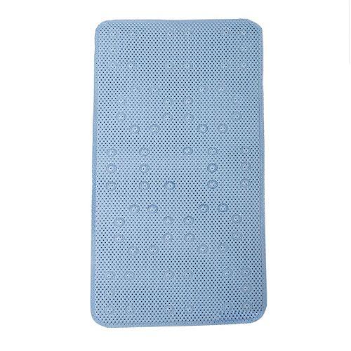 17  Inch  W X 36  Inch  L Foam Bath Mat in Blue