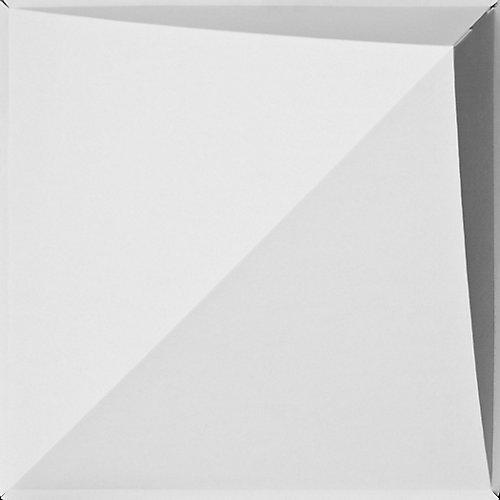 Carreaux de plafond «FoldsCapes Peak» de couleur blanche, paquet de 24 carreaux (carreaux de 2 pi x 2 pi et profondeur de 7 po)
