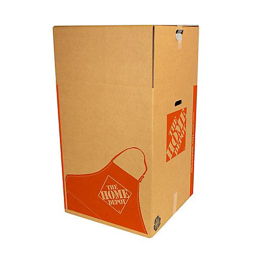 24 inch L x 24 inch W x 44 inch D Heavy Duty Tall Wardrobe Box with Metal Hanging Bar