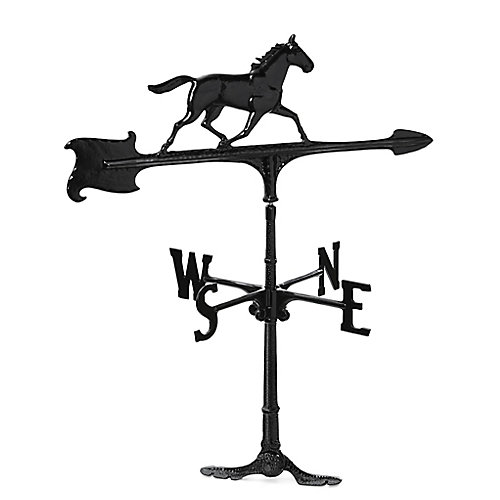 """La girouette de cheval - noir - 30"""""""