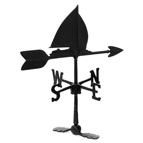 Sailboat Weathervane - Black 24 Inch