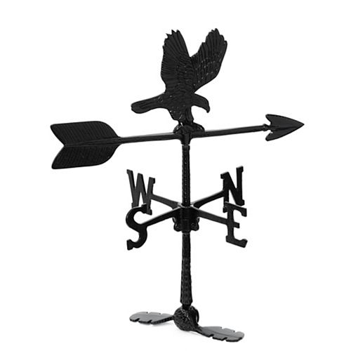 Eagle Weathervane - Black 24 Inch