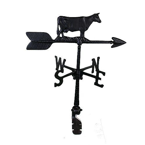 Cow Weathervane - Black 24 Inch