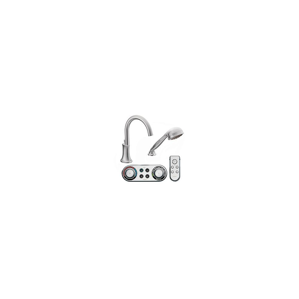 MOEN Icon High Arc Roman Bath Faucet with Hand Shower in Chrome Finish