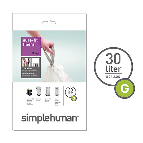 Trash Can Liner G 30L (20-Pack)