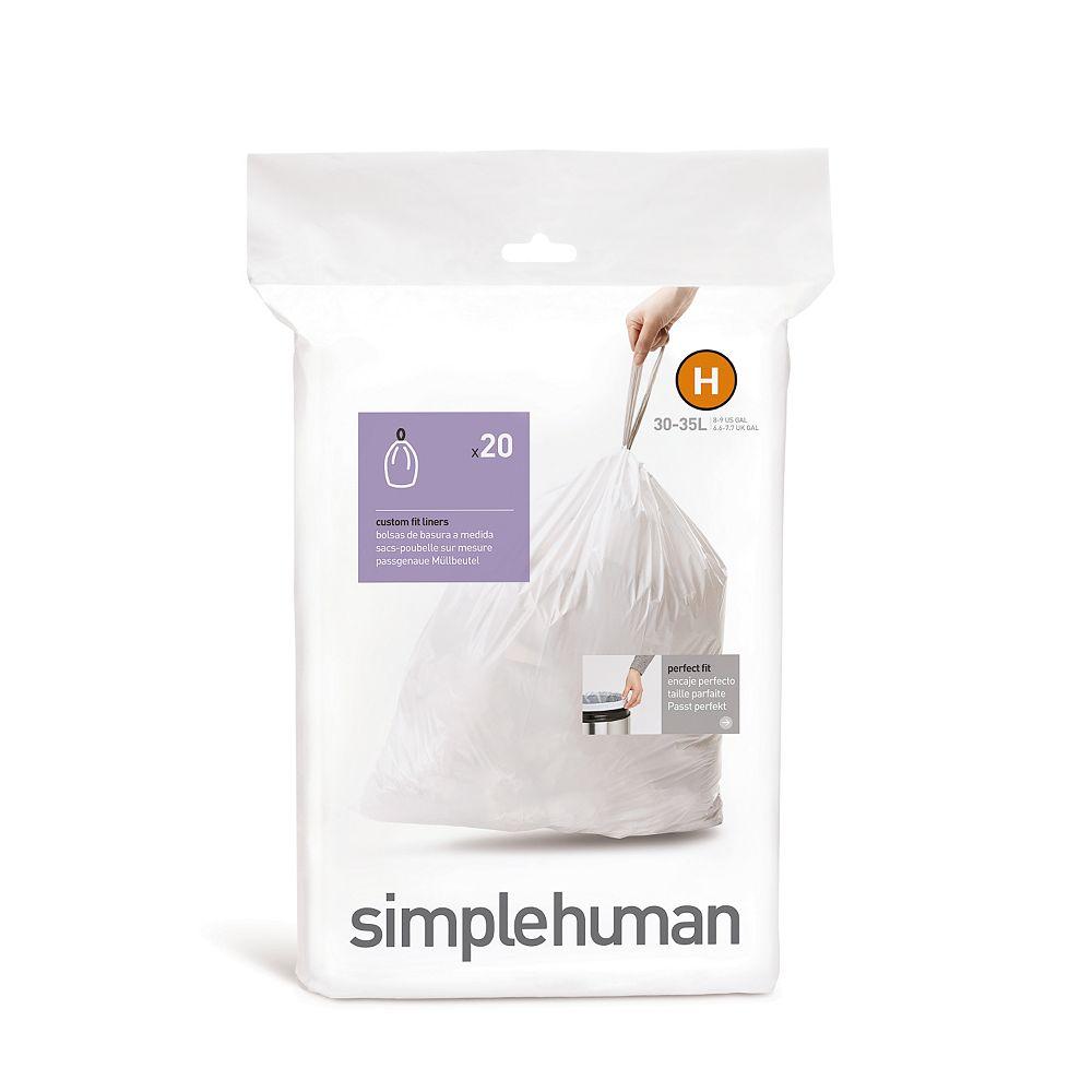 Simplehuman H liner 35L - 20 pack
