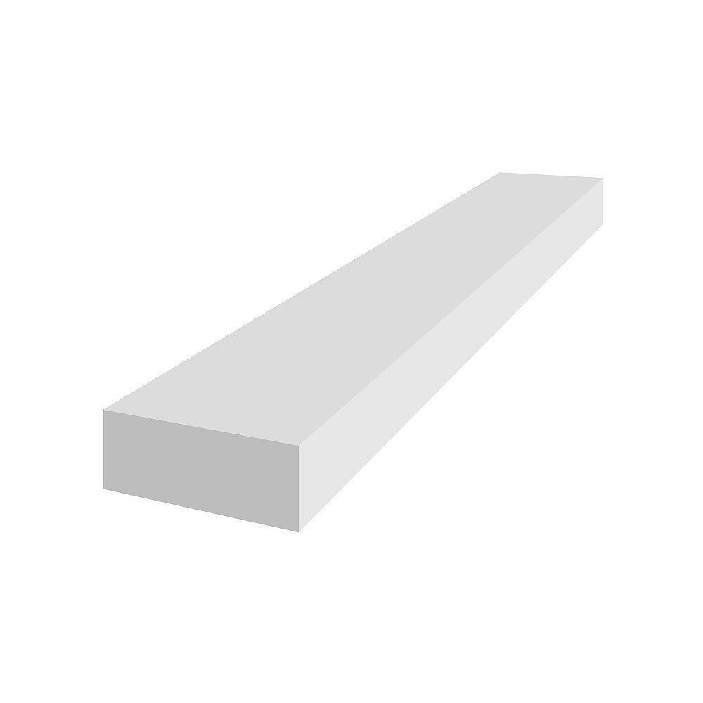 Veranda 1 po. x 2 po. x 8 pi. Veranda PVC Trim Board Blanc