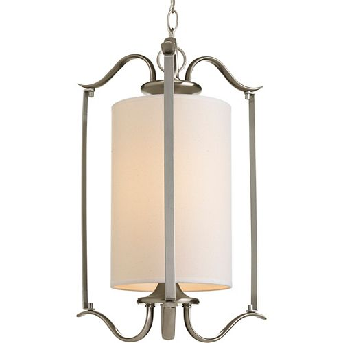 Progress Lighting Inspire Collection 1-light Brushed Nickel Foyer Pendant