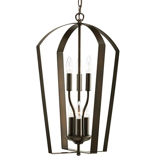 Progress Lighting Gather Collection Antique Bronze 6-light Foyer Pendant