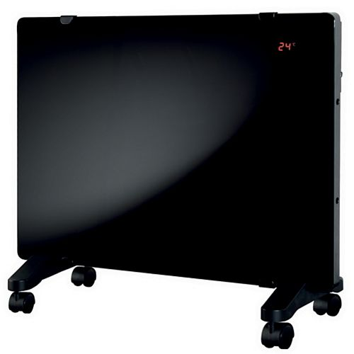 1500W Glass Flat Panel Heater. Portable or Wall Mount with Remote Control