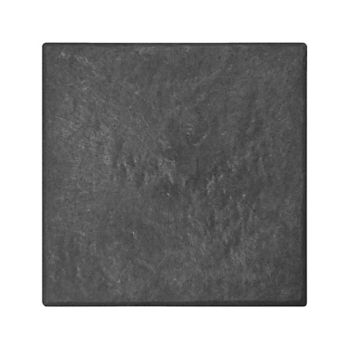 Stomp Stone 12 inch x 12 inch Recycled Rubber Paver in Slate