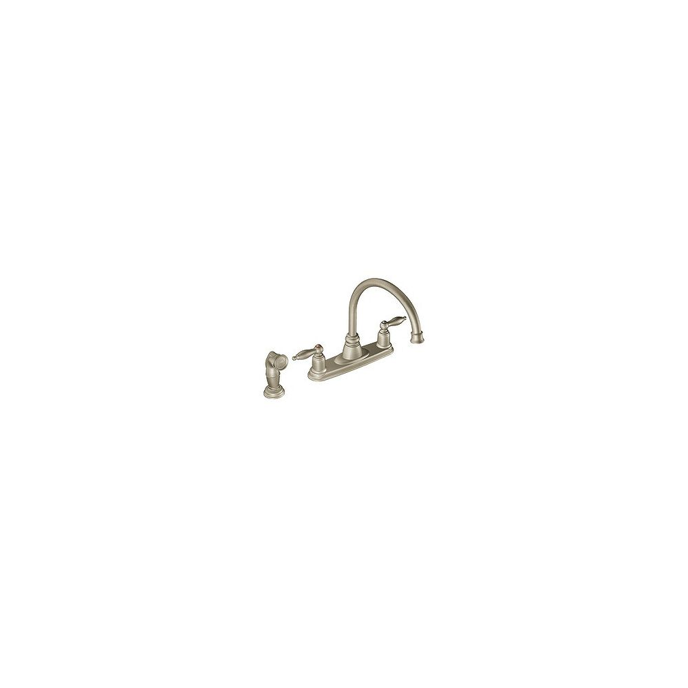 MOEN Castleby 2-Handle Kitchen Faucet in Stainless
