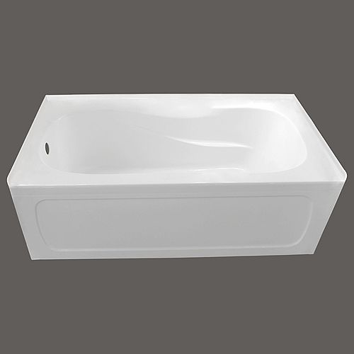 60-inch x 32-inch Pro Acrylic Left-Hand Drain Skirted Bathtub in White