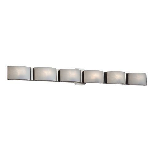 Eurofase Dakota Collection 6-Light 60W Satin Nickel Vanity Light Fixture