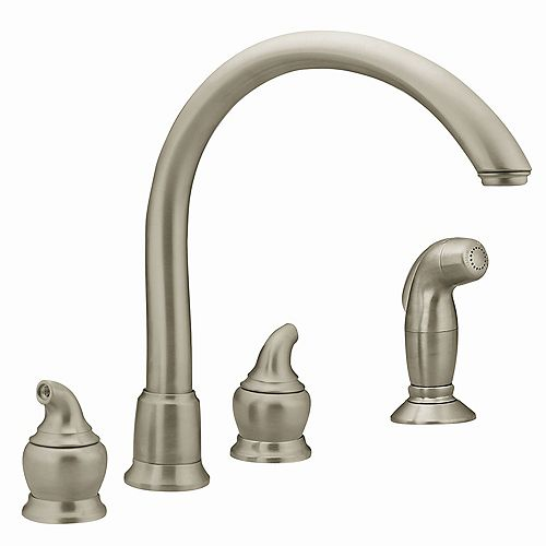 Monticello 2-Handle Kitchen Faucet in Stainless Steel