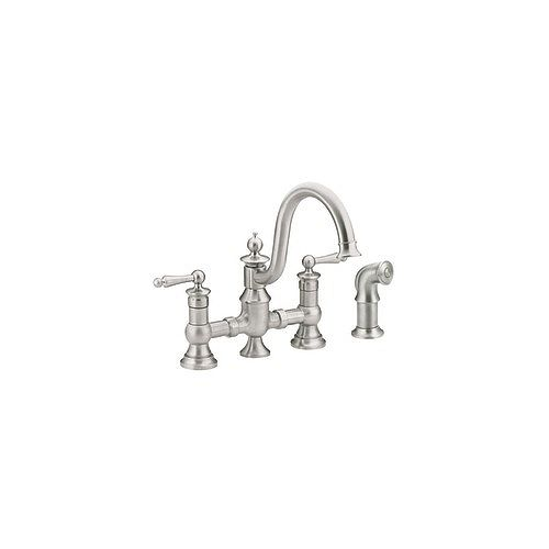 Waterhill 2-Handle High Arc Kitchen Faucet in Classic Stainless