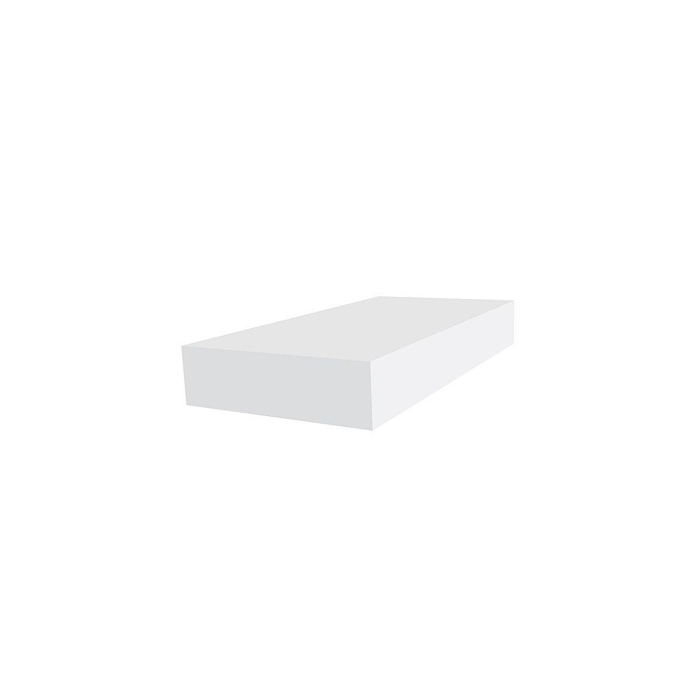 Veranda 1 Inch x 4 Inch x 12 Feet PVC Trim Board White