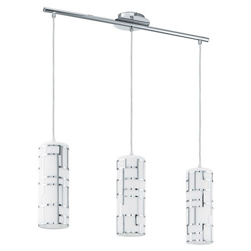 Bayman suspension 3L chrome avec verre opaque