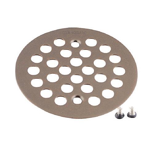 Couvercle de baignoire / douche de 4-1/4 po pour ouverture de 2-5/8 po en bronze huilé frotté