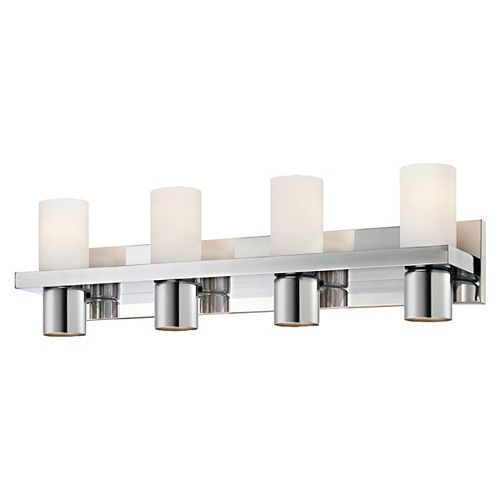 Eurofase Pillar Collection 4-Light Bath Bar in Chrome